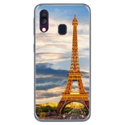Funda Gel Tpu para Samsung Galaxy A40 diseño Paris Dibujos