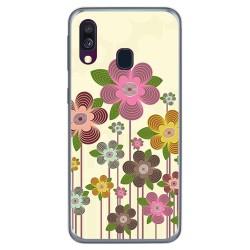 Funda Gel Tpu para Samsung Galaxy A40 diseño Primavera En Flor Dibujos