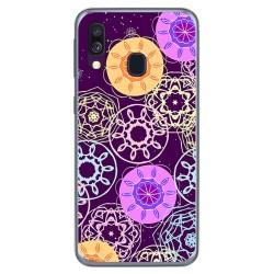 Funda Gel Tpu para Samsung Galaxy A40 diseño Radial Dibujos