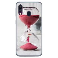 Funda Gel Tpu para Samsung Galaxy A40 diseño Reloj Dibujos