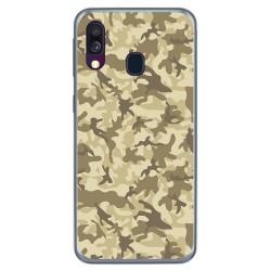 Funda Gel Tpu para Samsung Galaxy A40 diseño Sand Camuflaje Dibujos