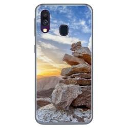 Funda Gel Tpu para Samsung Galaxy A40 diseño Sunset Dibujos
