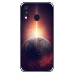 Funda Gel Tpu para Samsung Galaxy A40 diseño Tierra Dibujos