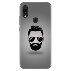Funda Gel Tpu para Xiaomi Redmi 7 diseño Barba Dibujos