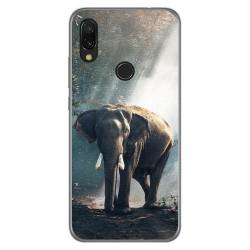 Funda Gel Tpu para Xiaomi Redmi 7 diseño Elefante Dibujos