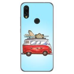 Funda Gel Tpu para Xiaomi Redmi 7 diseño Furgoneta Dibujos