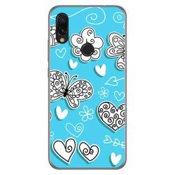 Funda Gel Tpu para Xiaomi Redmi 7 diseño Mariposas Dibujos