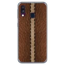 Funda Gel Tpu para Samsung Galaxy A40 diseño Cuero 01 Dibujos