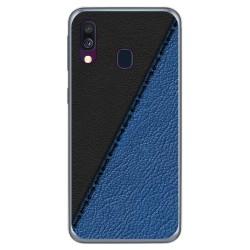 Funda Gel Tpu para Samsung Galaxy A40 diseño Cuero 02 Dibujos