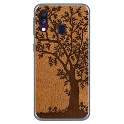 Funda Gel Tpu para Samsung Galaxy A40 diseño Cuero 03 Dibujos