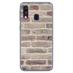 Funda Gel Tpu para Samsung Galaxy A40 diseño Ladrillo 01 Dibujos