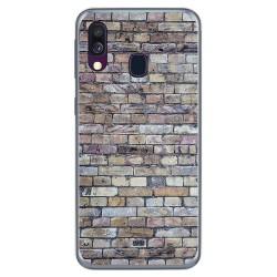 Funda Gel Tpu para Samsung Galaxy A40 diseño Ladrillo 02 Dibujos