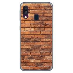 Funda Gel Tpu para Samsung Galaxy A40 diseño Ladrillo 04 Dibujos