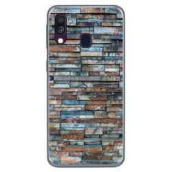 Funda Gel Tpu para Samsung Galaxy A40 diseño Ladrillo 05 Dibujos