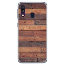 Funda Gel Tpu para Samsung Galaxy A40 diseño Madera 03 Dibujos