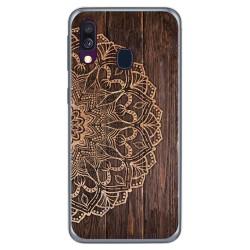 Funda Gel Tpu para Samsung Galaxy A40 diseño Madera 06 Dibujos