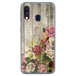 Funda Gel Tpu para Samsung Galaxy A40 diseño Madera 08 Dibujos