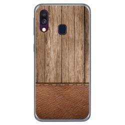 Funda Gel Tpu para Samsung Galaxy A40 diseño Madera 09 Dibujos