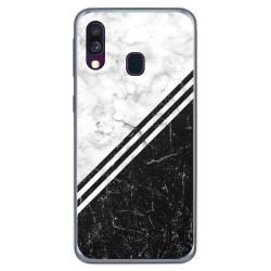 Funda Gel Tpu para Samsung Galaxy A40 diseño Mármol 01 Dibujos