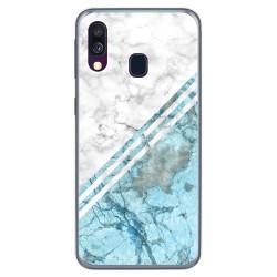 Funda Gel Tpu para Samsung Galaxy A40 diseño Mármol 02 Dibujos