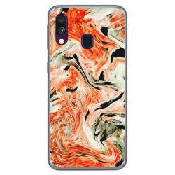 Funda Gel Tpu para Samsung Galaxy A40 diseño Mármol 12 Dibujos