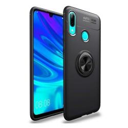 Funda Magnetica Soporte con Anillo Giratorio 360 para Huawei Y7 2019 color Negra