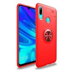 Funda Magnetica Soporte con Anillo Giratorio 360 para Huawei Y7 2019 color Roja