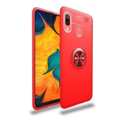 Funda Magnetica Soporte con Anillo Giratorio 360 para Samsung Galaxy A40 color Roja