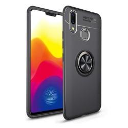 Funda Magnetica Soporte con Anillo Giratorio 360 para Samsung Galaxy M20 color Negra