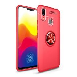 Funda Magnetica Soporte con Anillo Giratorio 360 para Samsung Galaxy M20 color Roja