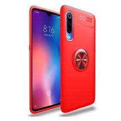 Funda Magnetica Soporte con Anillo Giratorio 360 para Xiaomi Mi 9 color Roja