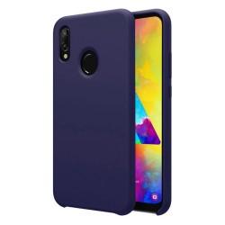 Funda Silicona Líquida Ultra Suave para Samsung Galaxy M20 color Azul