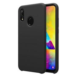 Funda Silicona Líquida Ultra Suave para Samsung Galaxy M20 color Negra