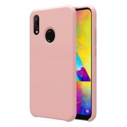 Funda Silicona Líquida Ultra Suave para Samsung Galaxy M20 color Rosa