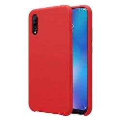 Funda Silicona Líquida Ultra Suave para Xiaomi Mi 9 color Roja