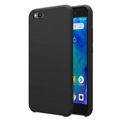 Funda Silicona Líquida Ultra Suave para Xiaomi Redmi Go color Negra