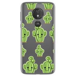 Funda Gel Transparente para Motorola Moto G7 Power diseño Cactus Dibujos