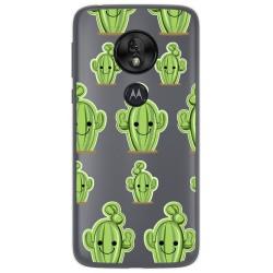 Funda Gel Transparente para Motorola Moto G7 Play diseño Cactus Dibujos