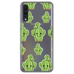 Funda Gel Transparente para Samsung Galaxy A50 diseño Cactus Dibujos