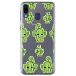 Funda Gel Transparente para Samsung Galaxy M20 diseño Cactus Dibujos
