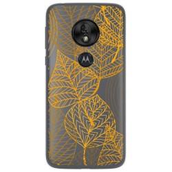 Funda Gel Transparente para Motorola Moto G7 Play diseño Hojas Dibujos