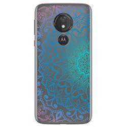 Funda Gel Transparente para Motorola Moto G7 Power diseño Mandala Dibujos