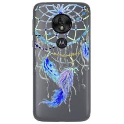 Funda Gel Transparente para Motorola Moto G7 Play diseño Plumas Dibujos