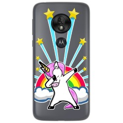 Funda Gel Transparente para Motorola Moto G7 Play diseño Unicornio Dibujos