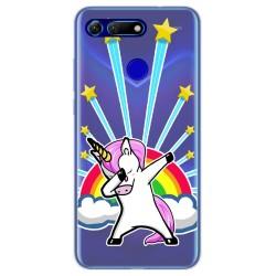 Funda Gel Transparente para Huawei Honor View 20 diseño Unicornio Dibujos
