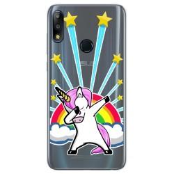 Funda Gel Transparente para Asus Zenfone Max (M2) diseño Unicornio Dibujos