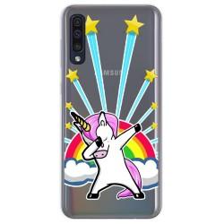 Funda Gel Transparente para Samsung Galaxy A50 diseño Unicornio Dibujos