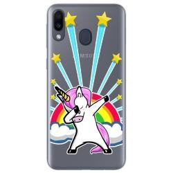 Funda Gel Transparente para Samsung Galaxy M20 diseño Unicornio Dibujos