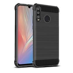 Funda Gel Tpu Anti-Shock Carbon Negra para Huawei P30 Lite