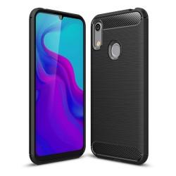 Funda Gel Tpu Tipo Carbon Negra para Huawei Y6 2019 / Y6s 2019